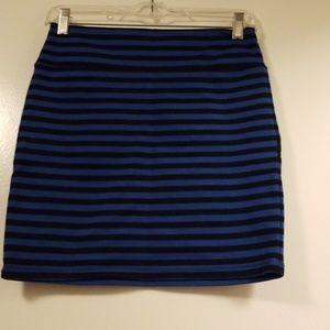 Xhilaration Skirts - Blue striped skirt